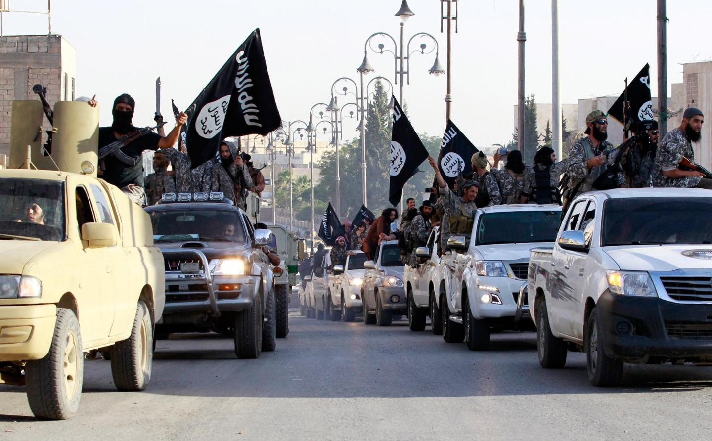 Islamic State vehicle parade