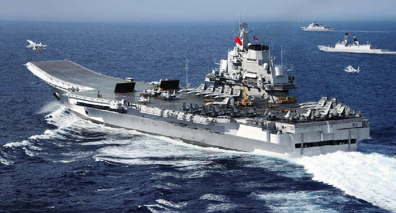 China CV-16 Liaoning aircraft carrier PLAN J-15 flying shark