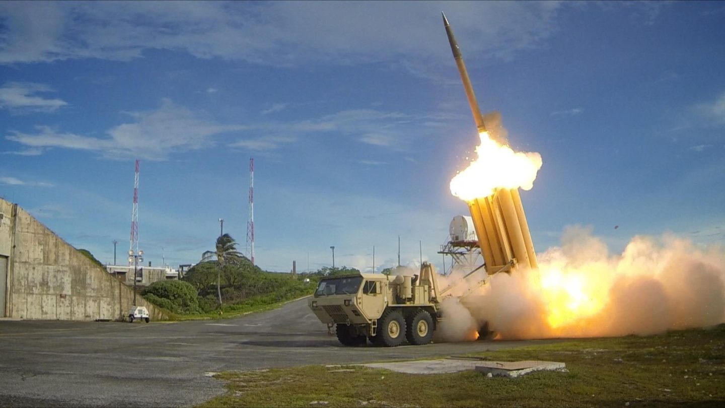 THAAD interceptor launch - The U.S. Army Ralph Scott/Missile Defense Agency/U.S. Department of Defense
