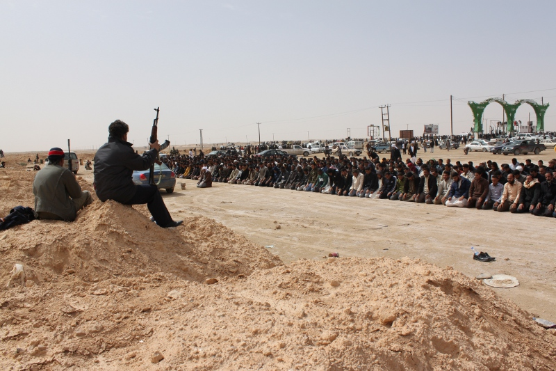 Libya Militia prayers