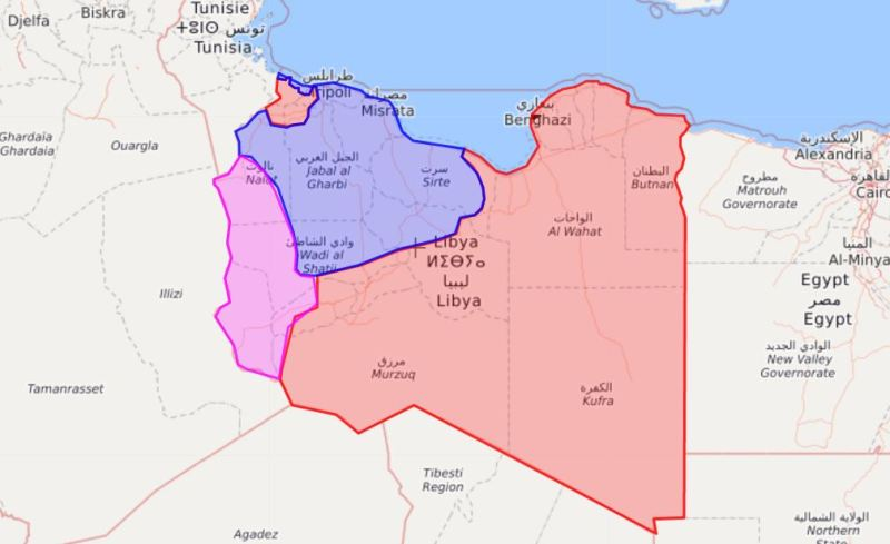 Livemap Libya Territory Map May 2017