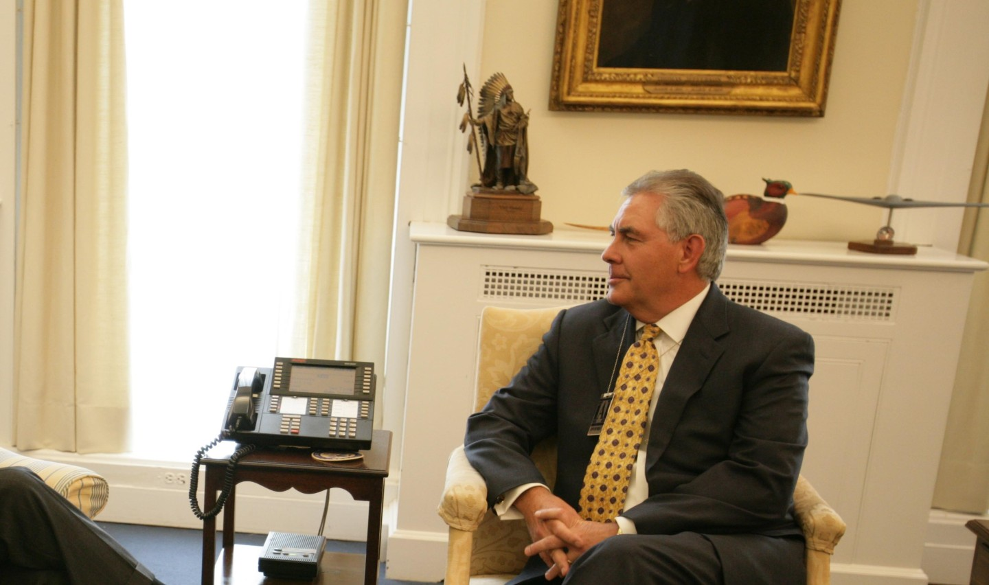 Rex Tillerson, Chairman and Chief Executive Officer, Exxon Mobile Corporation.