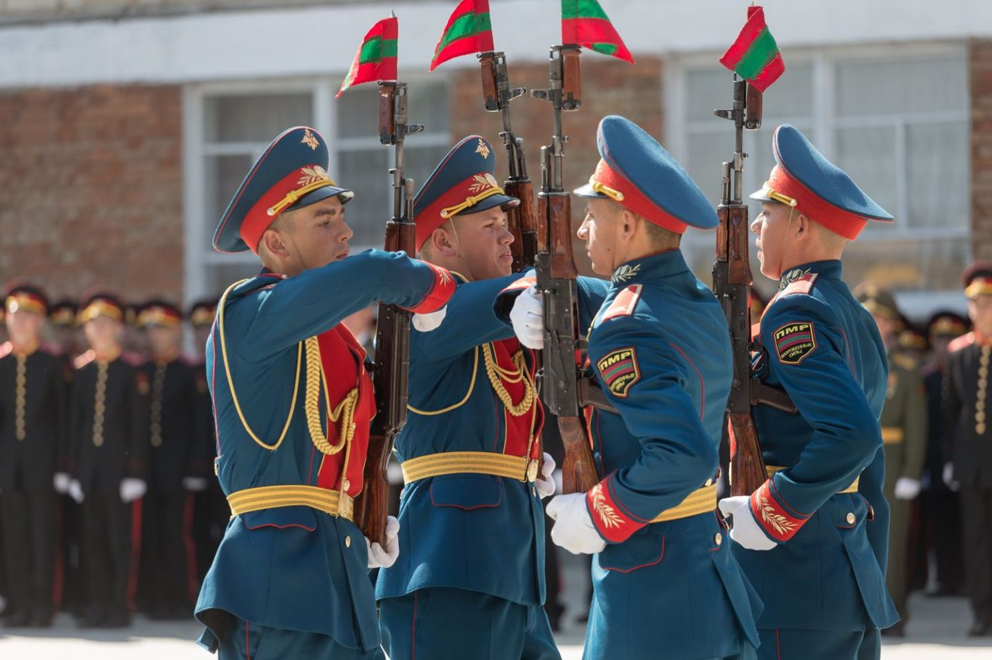 The Tiraspol Suvorov Military School's opening ceremony in 2017 in Tiraspol.