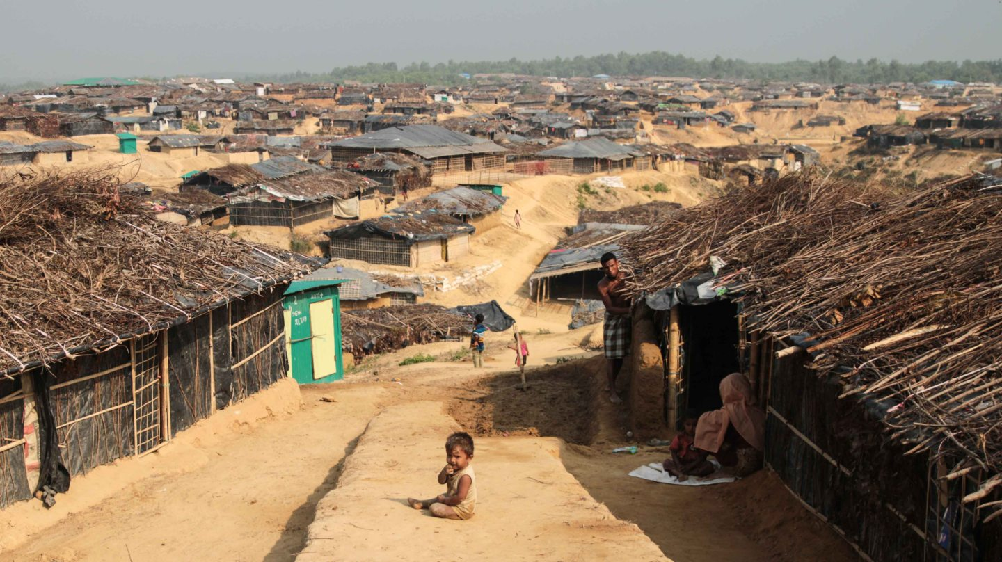 Photo of Kutupalong Refugee Camp in Bangladesh.