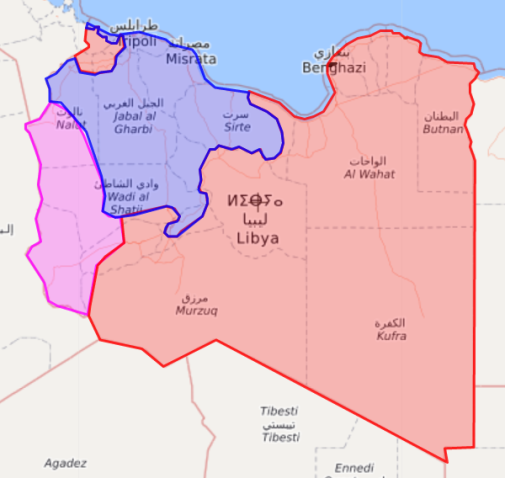 Map of territorial control within Libya