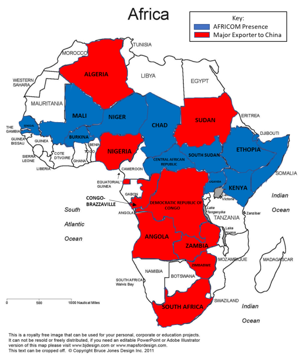 Africom and China presence in Africa