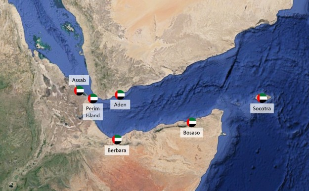 UAE military bases in the Bab el Mandab