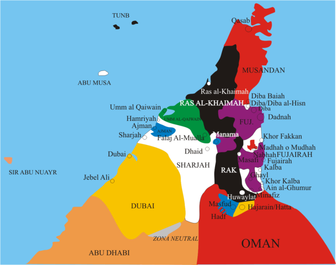 UAE internal borders