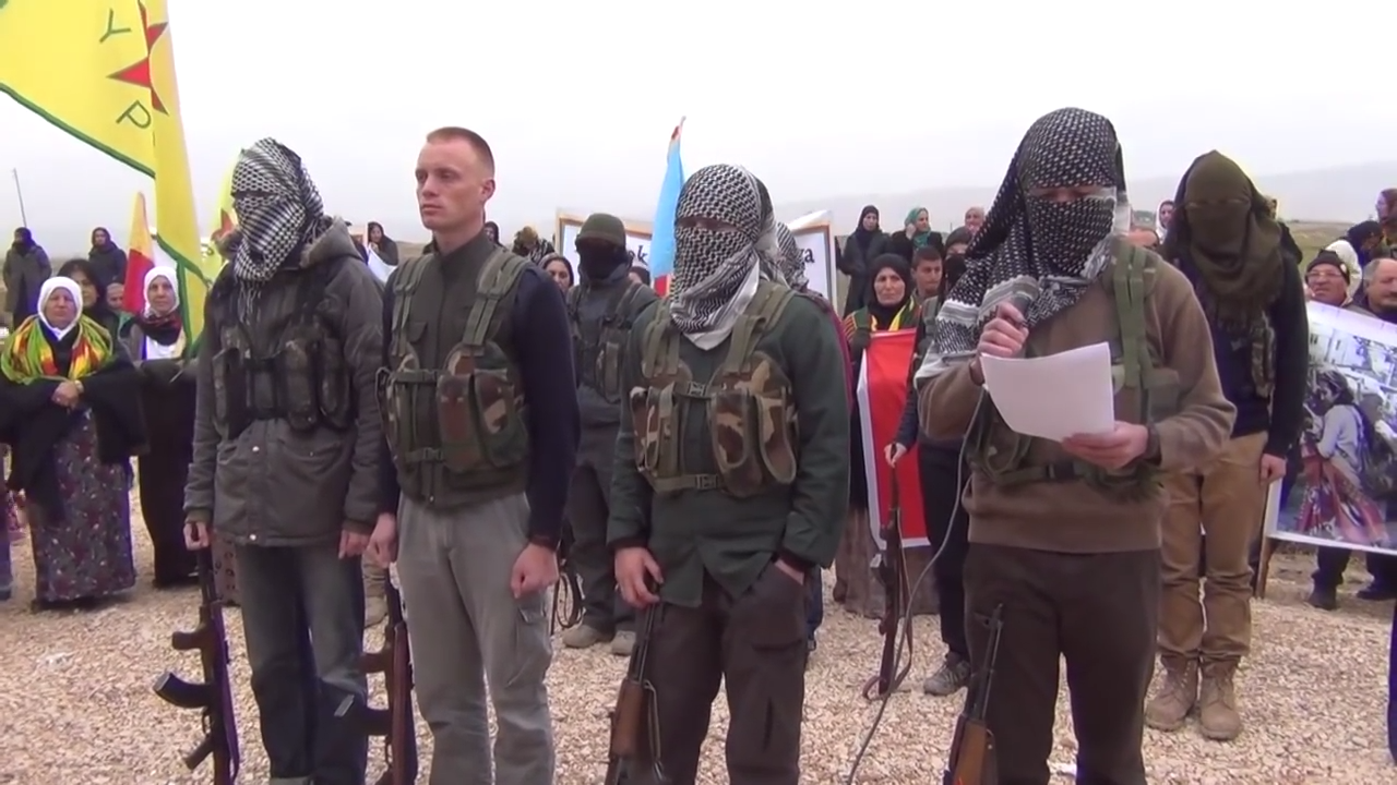 German, French, and Spanish fighters of the People's Protection Units in northern Syria call for people to join the Kurdish-Turkish conflict in Turkey.