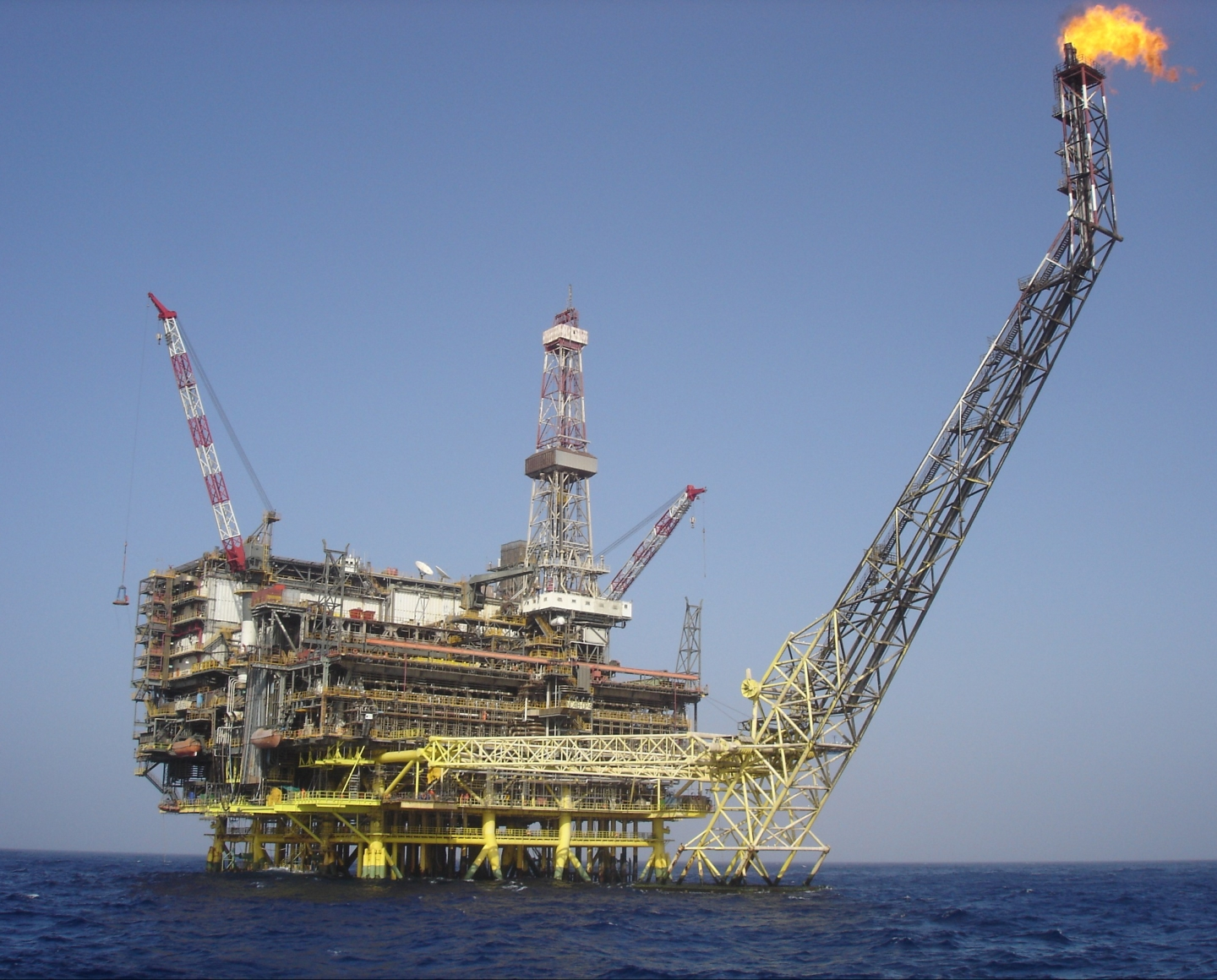 ENI Oil platform Bouri DP4