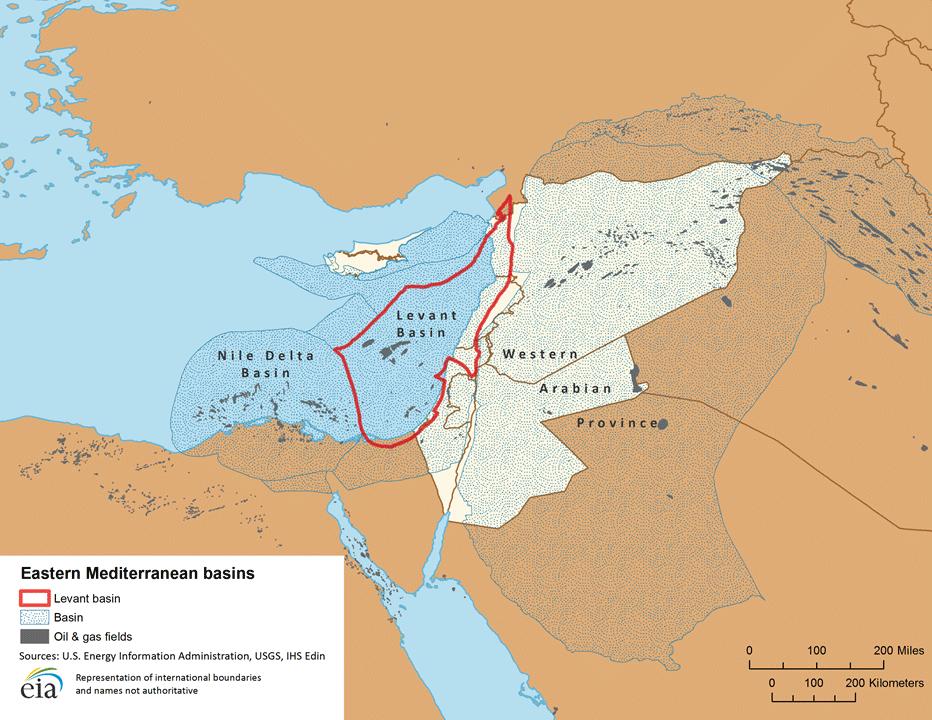 Eastern Mediterranean basins