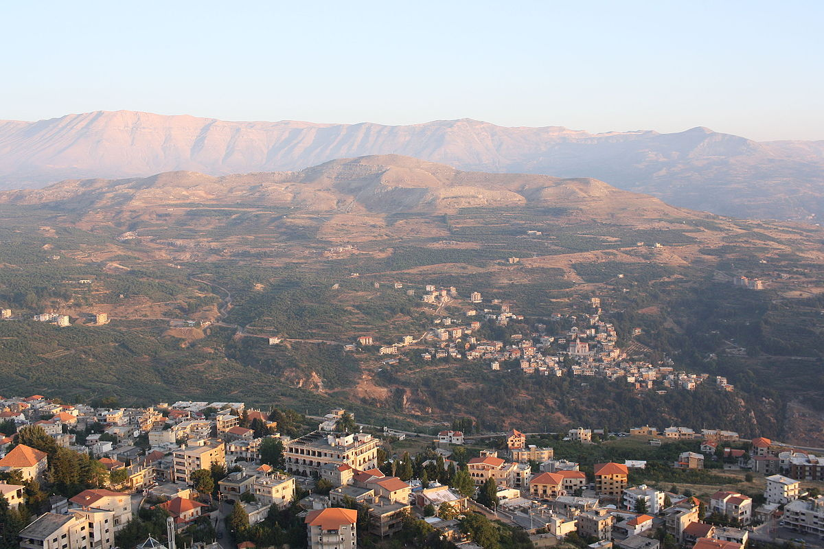 The Lebanese town of Ehden and Mount Lebanon