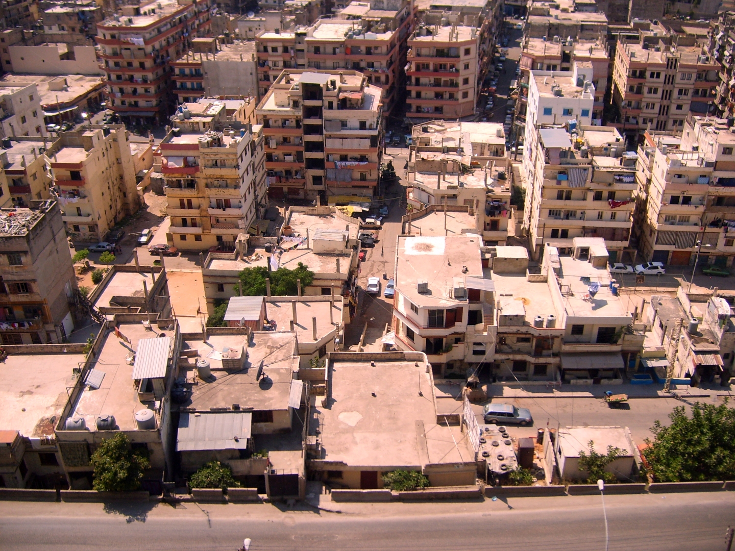 Bab al-Tabbaneh district of Tripoli, Lebanon, seen from Jabal Mohsen.