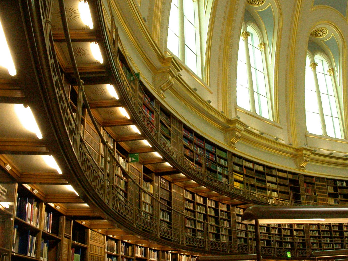 The Reading Room of the British Museum.