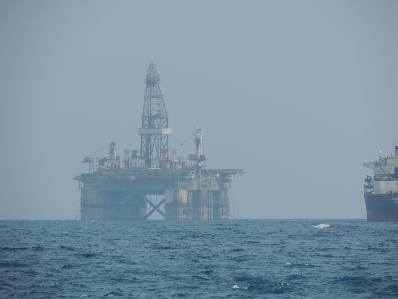 Limassol Cyprus Mediterranean oil platform