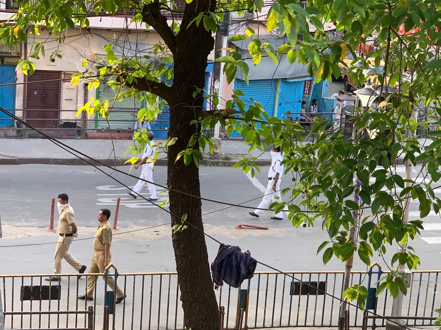 Situation of street during Lockdown for Corona crisis in Kolkata, West Bengal, India.