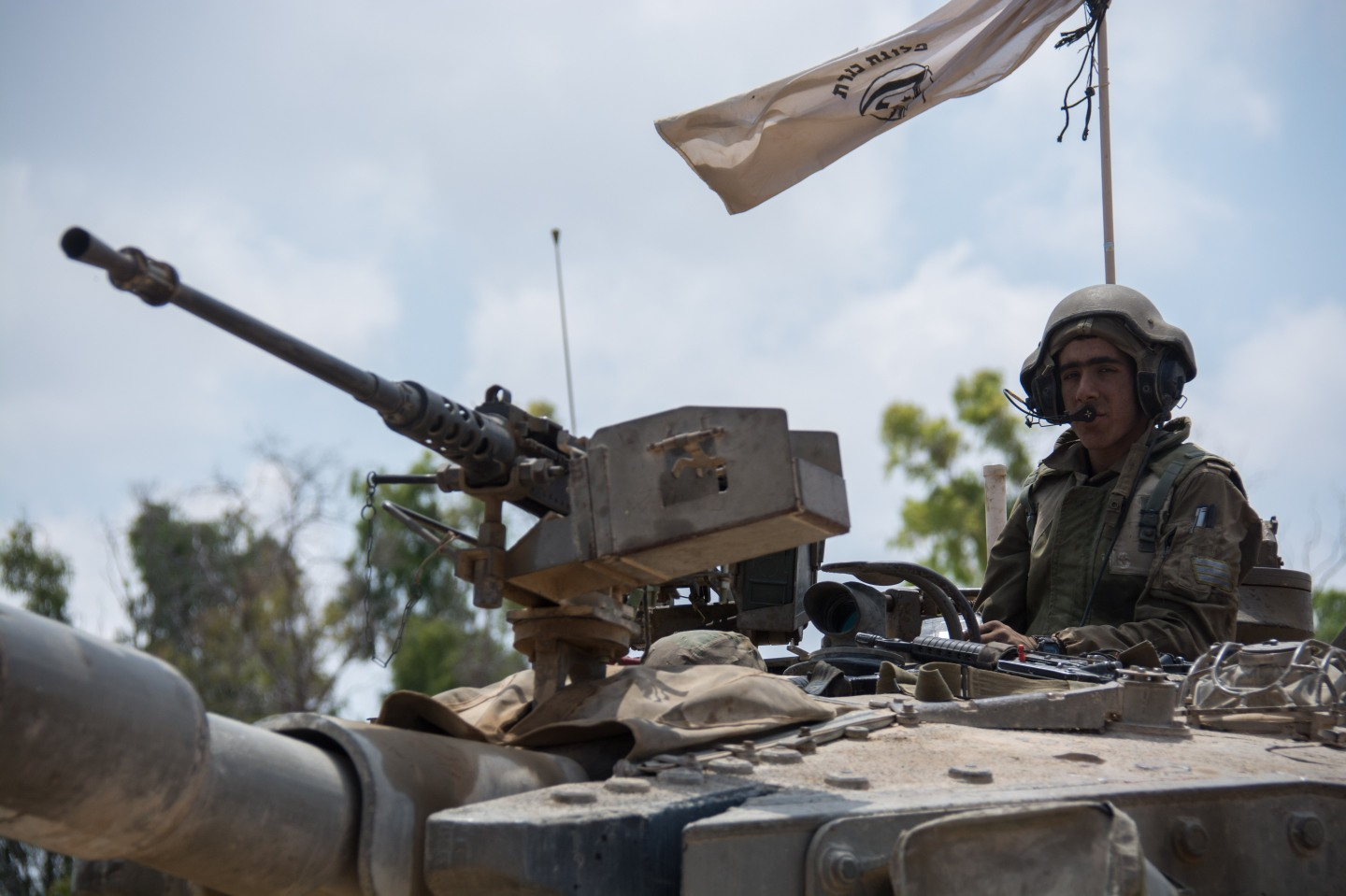 Israeli Armoured Corps near the Gaza border