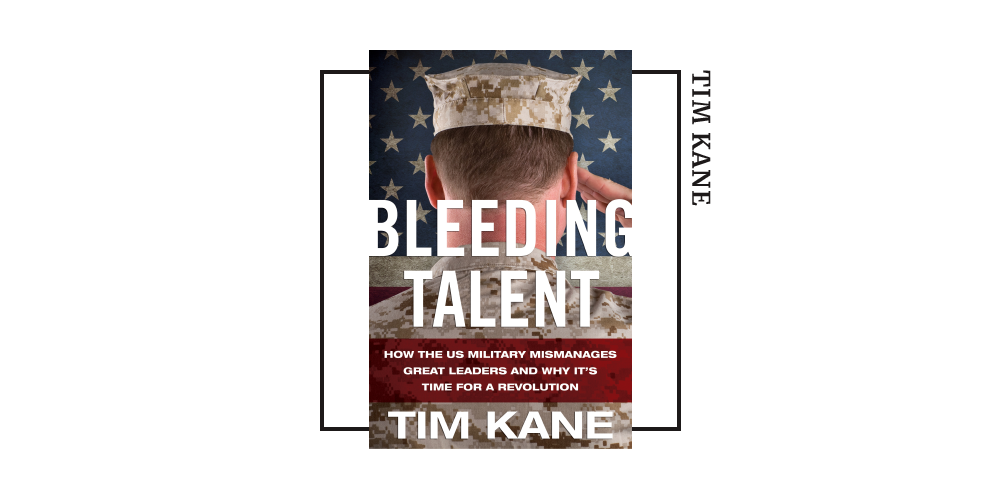 Book cover for Tim Kane's 'Bleeding Talent'