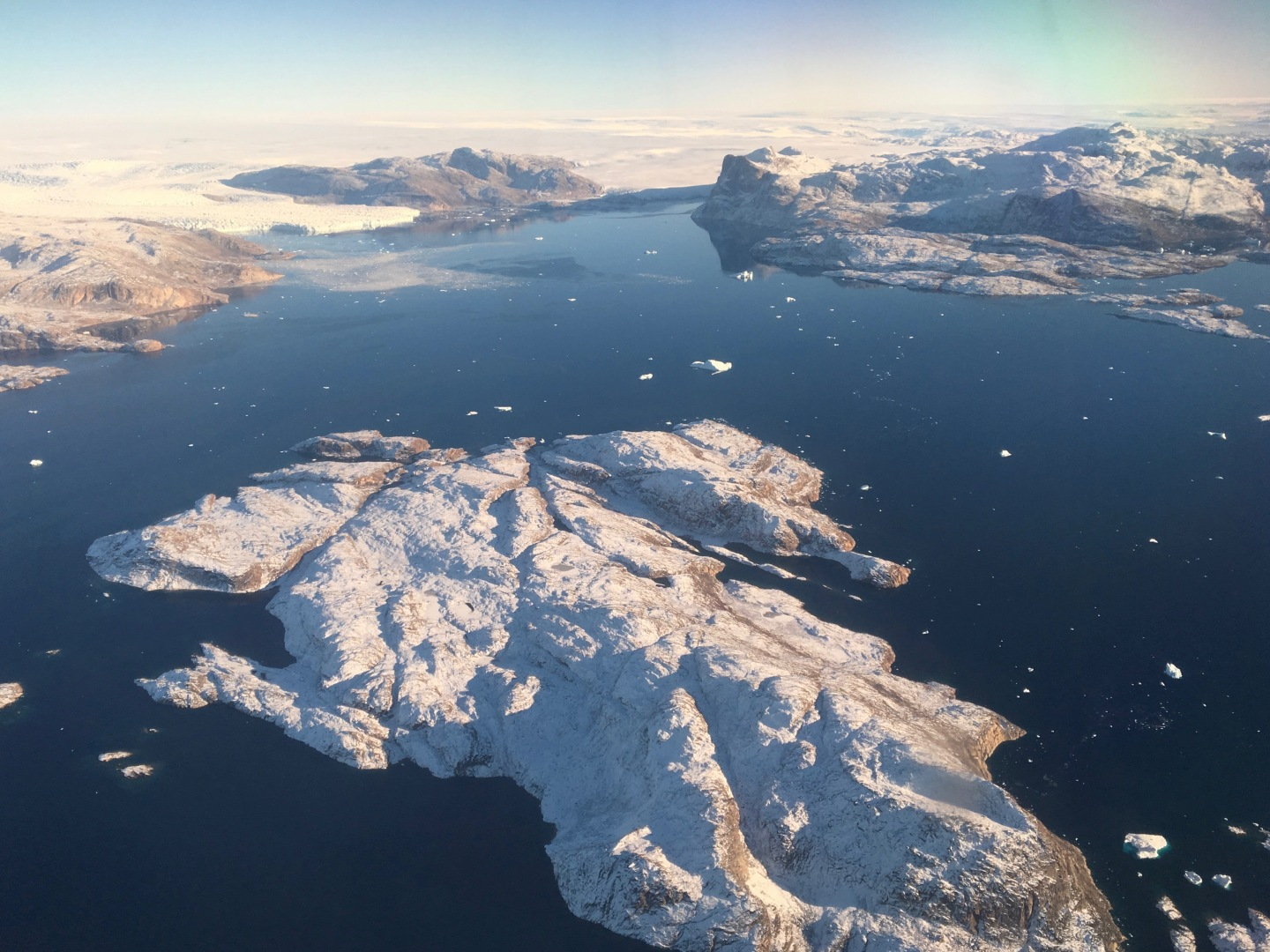 Aerial View of a Melting Glacier in Greenland